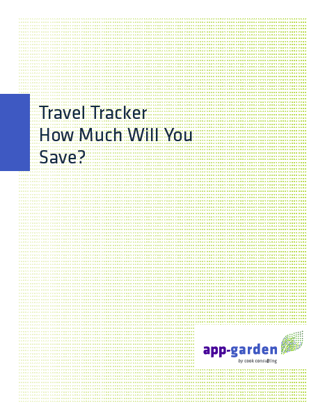 Travel Tracker: How Much Will You Save