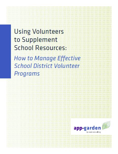 Using Volunteers to Supplement School Resources