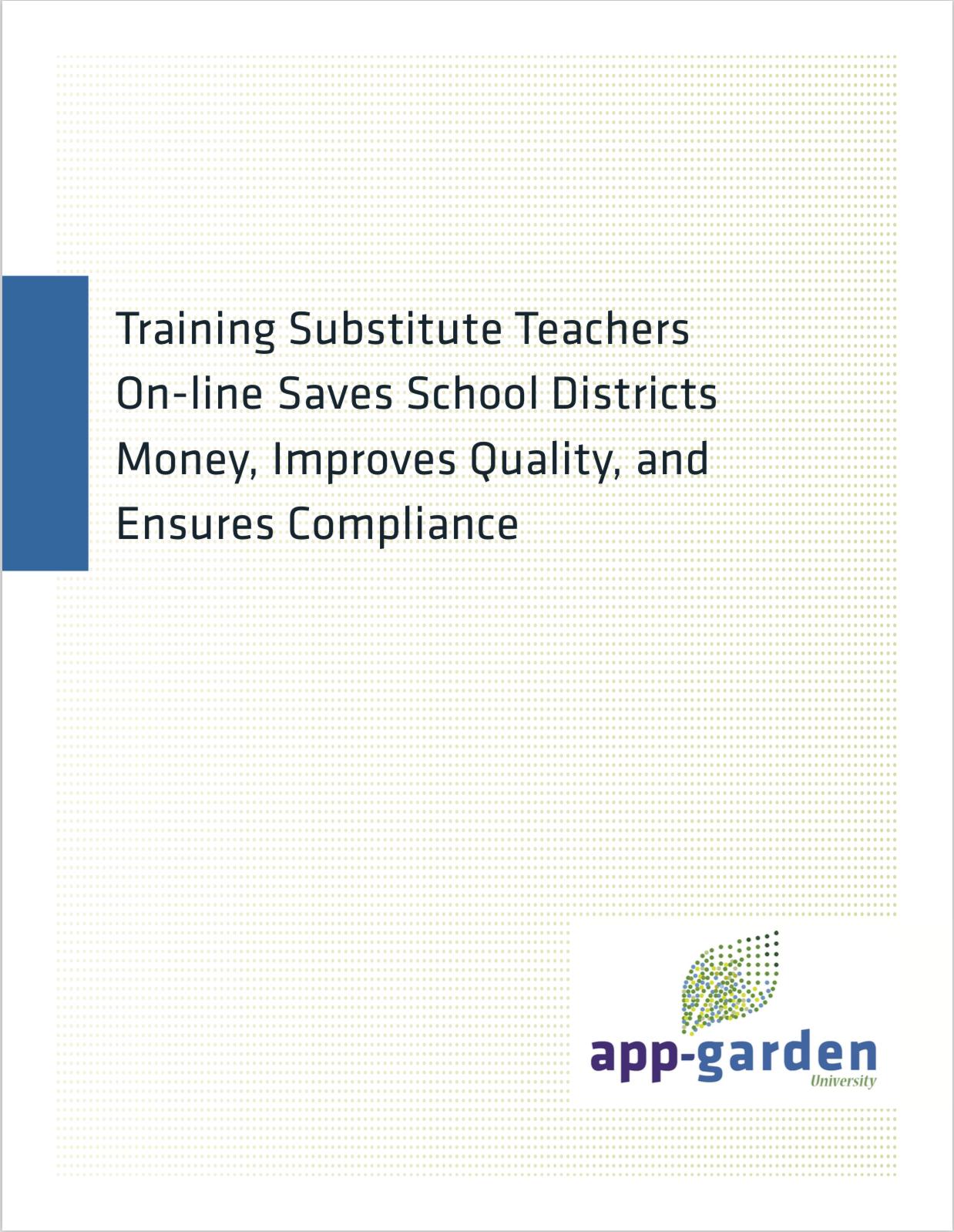 Training Substitute Teachers Online
