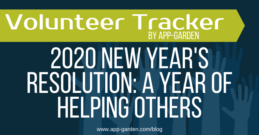 2020 New Year's Resolution: A Year of Helping Others